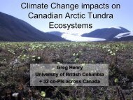Climate Change impacts on Canadian Arctic Tundra Ecosystems by ...