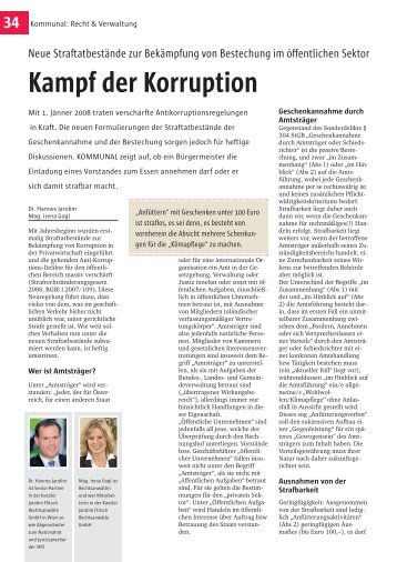 Kampf der Korruption