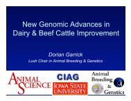 New Genomic Advances in Dairy & Beef Cattle Improvement