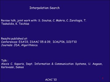 Interpolation Search - Corelab