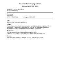 Dokumentation: 6 A 140/10 Hessischer Verwaltungsgerichtshof