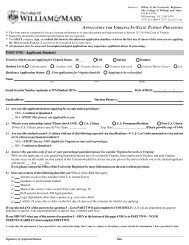 Domicile Application 2010-2011 v3.p65 - Mason School of Business ...