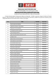 Resultado dos Recursos contra RESULTADO FINAL - Fundação ...