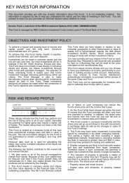 Income Fund Key Investor Information Document - Royal Bank of ...