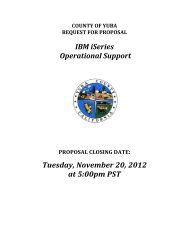 Request for Proposal - Yuba County