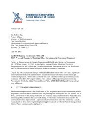 Submission to MOE on Proposed Changes by the Municipal ... - rccao