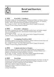 zum Programm Beruf und Karriere - Markt Arnstorf