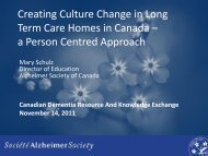 a Person Centred Approach - Canadian Dementia Resource and ...