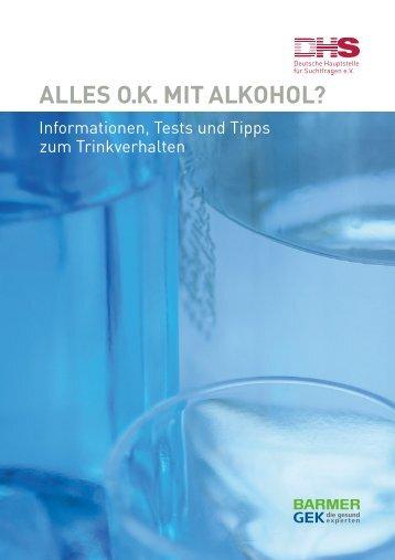 PDF Alles O.K. mit Alkohol? - Aktionswoche Alkohol