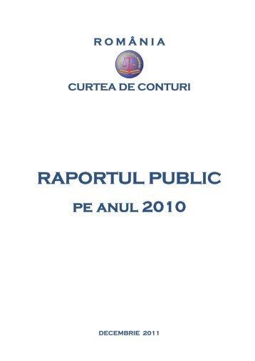 Raport Curtea de Conturi - Wall-Street.ro