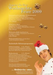 Feier 2009 Weihnachts Feier 2009 - Waldviertler Stuben