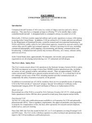 Fact Sheet - Unmanned Aircraft Systems - FAA