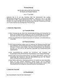 Finanzordnung - Hochschule für Musik und Theater Rostock