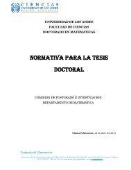 Reglamento para la Tesis Doctoral - Facultad de Ciencias