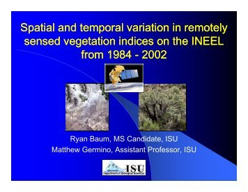 Spatial and temporal variation in remotely sensed vegetation indices ...