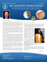 Quarterly World Report June 2013 - The World Federation of ...