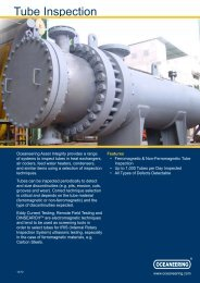 Tube Inspection - Oceaneering