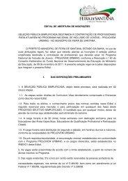 Edital de Aberturta de Inscrições 2012 - Prefeitura Municipal de ...