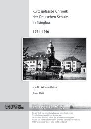 Kurze Chronik dt Schule Tsingtau 1924-46