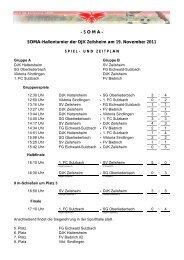 SOMA-Hallenturnier der DJK Zeilsheim am 19 ... - 1. FC Sulzbach