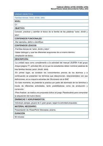 Instrucciones y material para el alumno - TodoEle.net