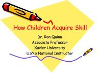 How Children Acquire Skill - US Youth Soccer