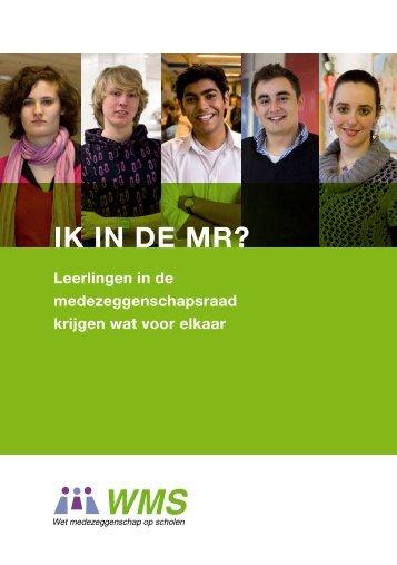 Brochure voor leerlingen in de MR - Wet medezeggenschap op ...