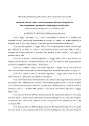 DECRETO del Ministero dell'Economia e delle Finanze del 15 ... - Acri