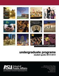 undergraduate programs - The School of Public Affairs