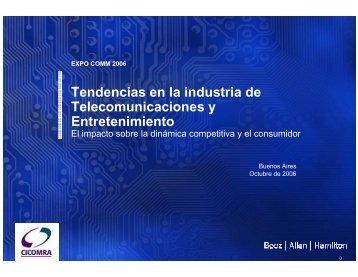Tendencias en la industria de Telecomunicaciones y ... - CICOMRA