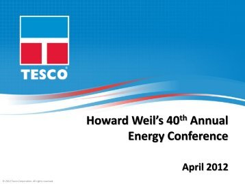 Howard Weil Conference - TESCO Corporation