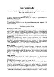 Regolamento Didattico - Medicina e chirurgia - Università degli ...