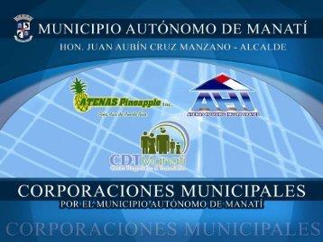 Proyectos de Alianzas Municipio Privadas del Municipio de Manatí ...