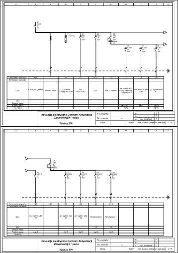 Schematy rys 5 instalacje elektryczne Centrum Aktywizacji ...