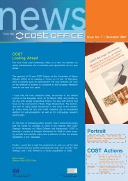 COST Office Newsletter No 7 - December 2007 (PDF, 1 MB)