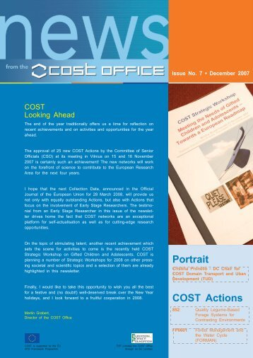 COST Office Newsletter No 7   December 2007 (PDF, 1 MB)