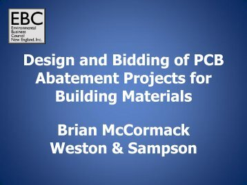 Design and Bidding of PCB Abatement Projects for Building ...