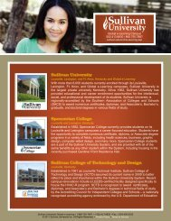 About Sullivan University e-Learning