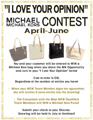 Michael Kors Purse Flyer March April May - Betsy Richard