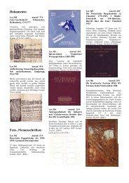Dokumente: Fest-, Firmenschriften: - Papierania