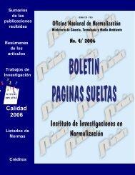 No. 4/ 2006 Calidad 2006 - Boletín Páginas Sueltas