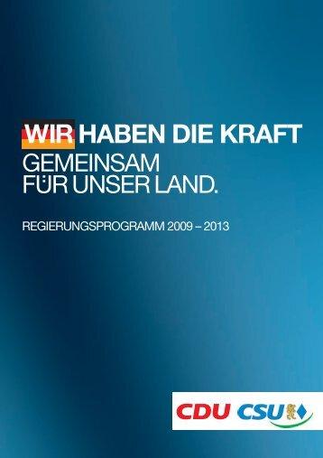 Wir haben die Kraft – Gemeinsam für unser Land - Konrad ...