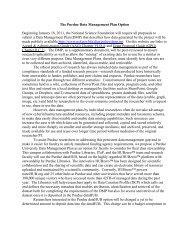 The Purdue Data Management Plan Option ... - Purdue University