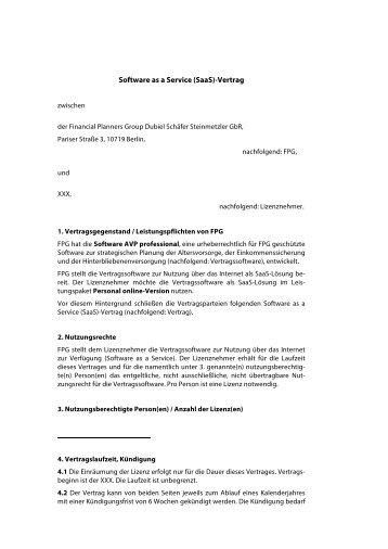 muster lizenzvertrag pdf datei avp professional - Lizenzvertrag Muster