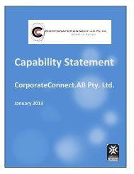 CorporateConnect.AB Capability Statement