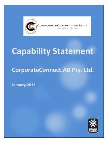 CorporateConnect.AB Capability Statement