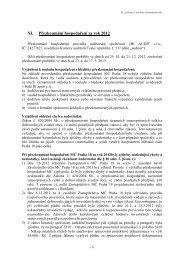 11) Zpráva o přezkumu hospodaření za rok 2012 - Praha 18 Letňany