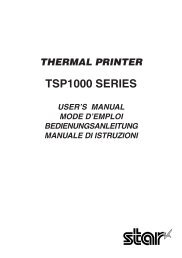 user's manual tsp1000 series - E.W.L. Display & Printing Solutions ...