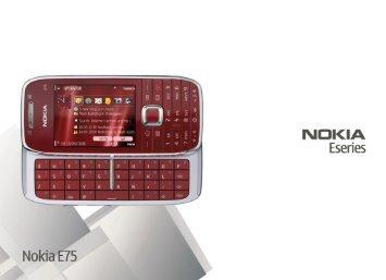 Nokia-E75-Bedienungsanleitung.pdf herunterladen - Fonmarkt.de