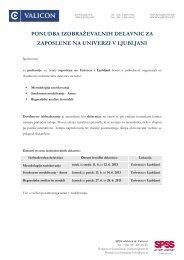 ponudba izobraževalnih delavnic za zaposlene na univerzi v ljubljani